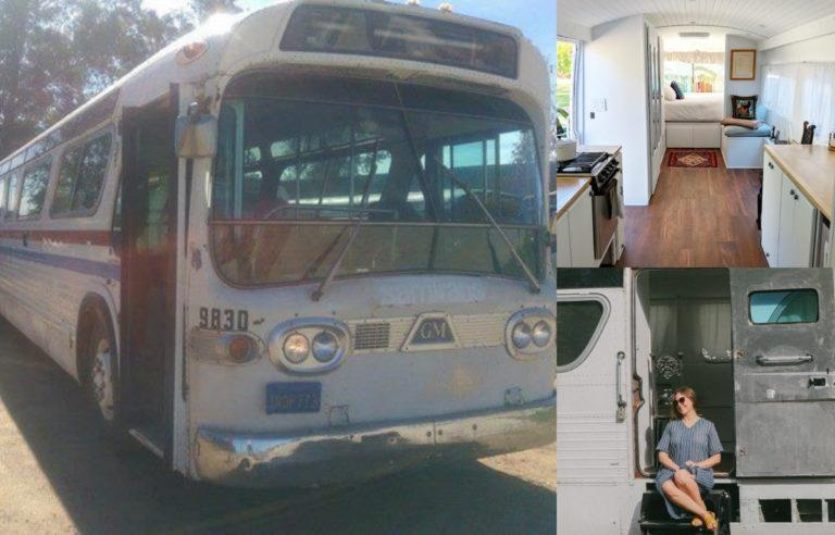O femeie și-a transformat autobuzul vechi într-o locuință de vis. FOTO