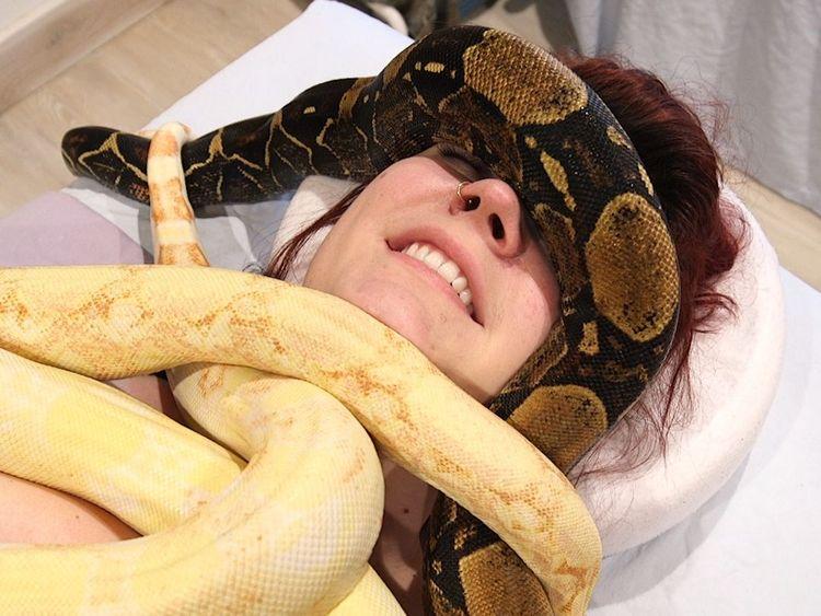Masajul cu șerpi