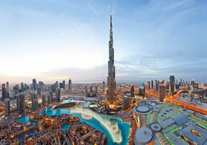 dubai burj Khalifa (Dusk) Panorama