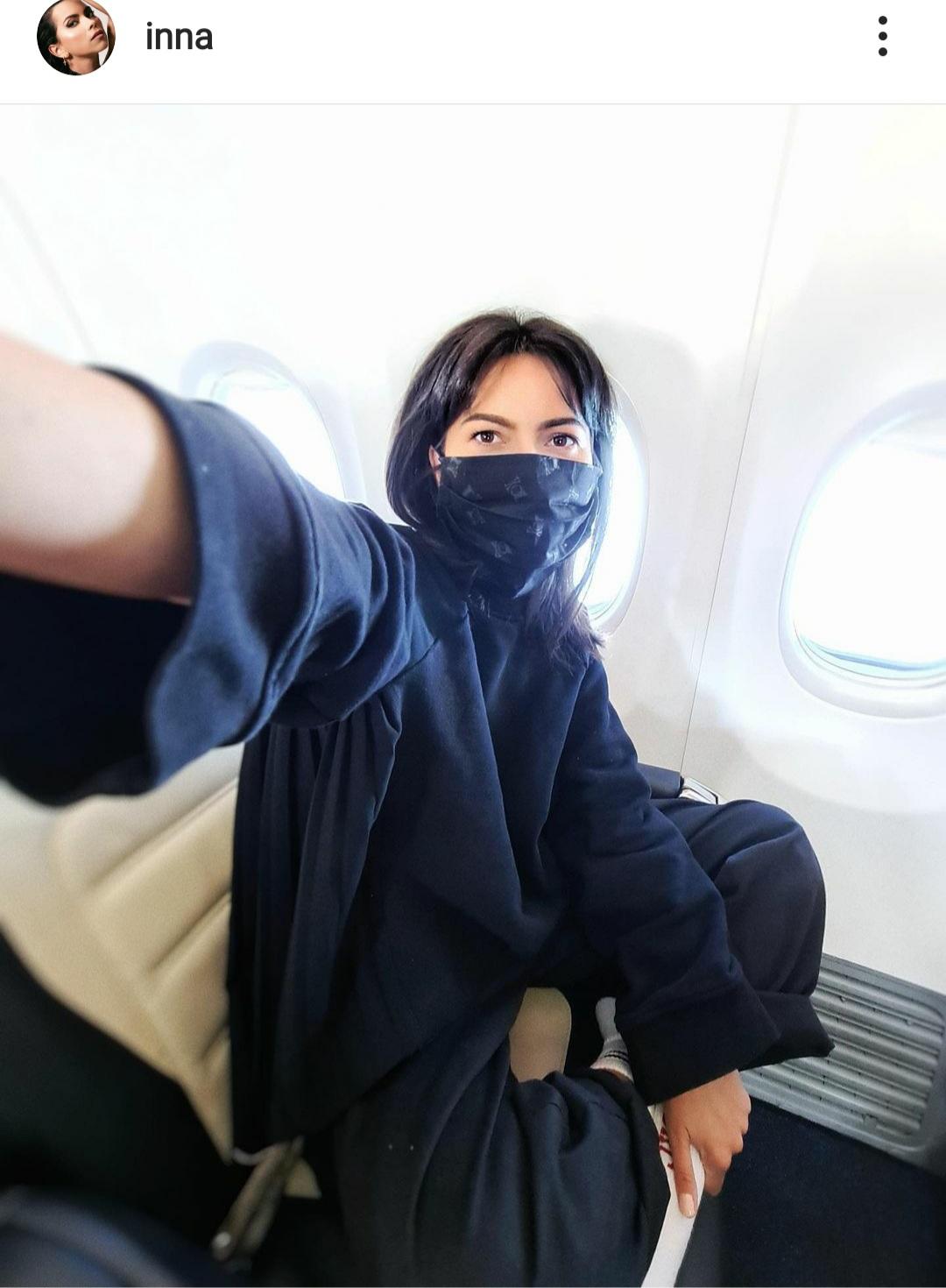 inna in avion