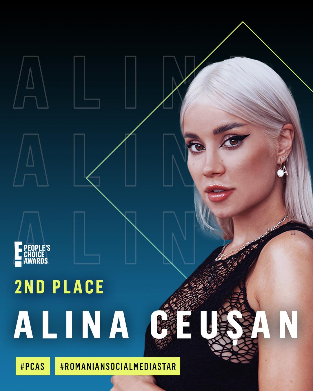 Alina Ceusan - locul 2 Romanian Social Media Star 2020
