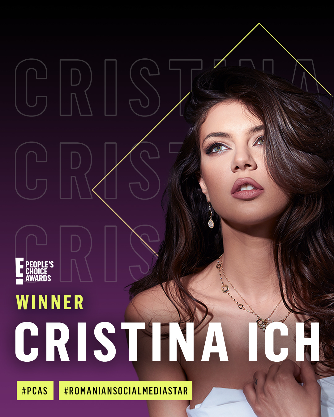 christina ich - winner_romanian social media star 2020