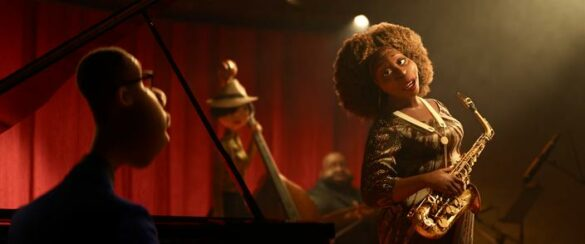 "In Disney and Pixar's ""Soul,"" a middle-school band teacher named Joe Gardner gets the chance of a lifetime to play the piano in a jazz quartet headed by the great Dorothea Williams. Featuring Jamie Foxx as the voice of Joe Gardner, and Angela Bassett as the voice of Dorothea, ""Soul"" will debut exclusively on Disney+ (where Disney+ is available) on December 25, 2020. © 2020 Disney/Pixar. All Rights Reserved."